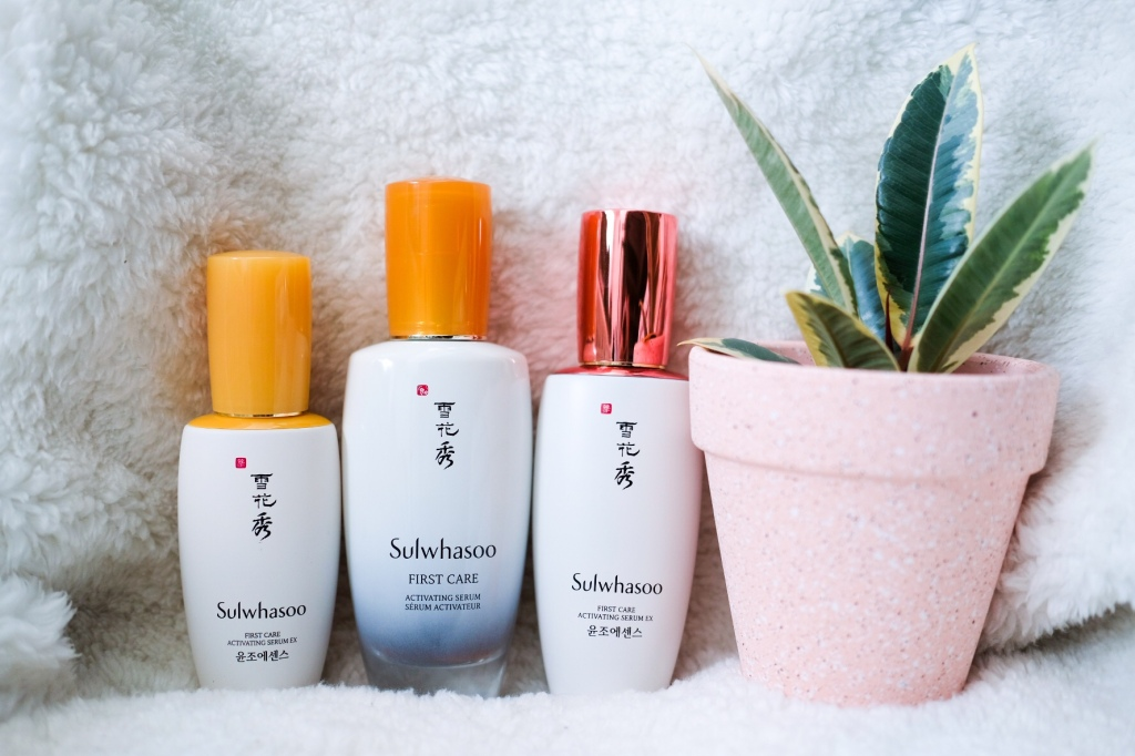 Three bottles of Sulwhasoo First Care Activating Serum
