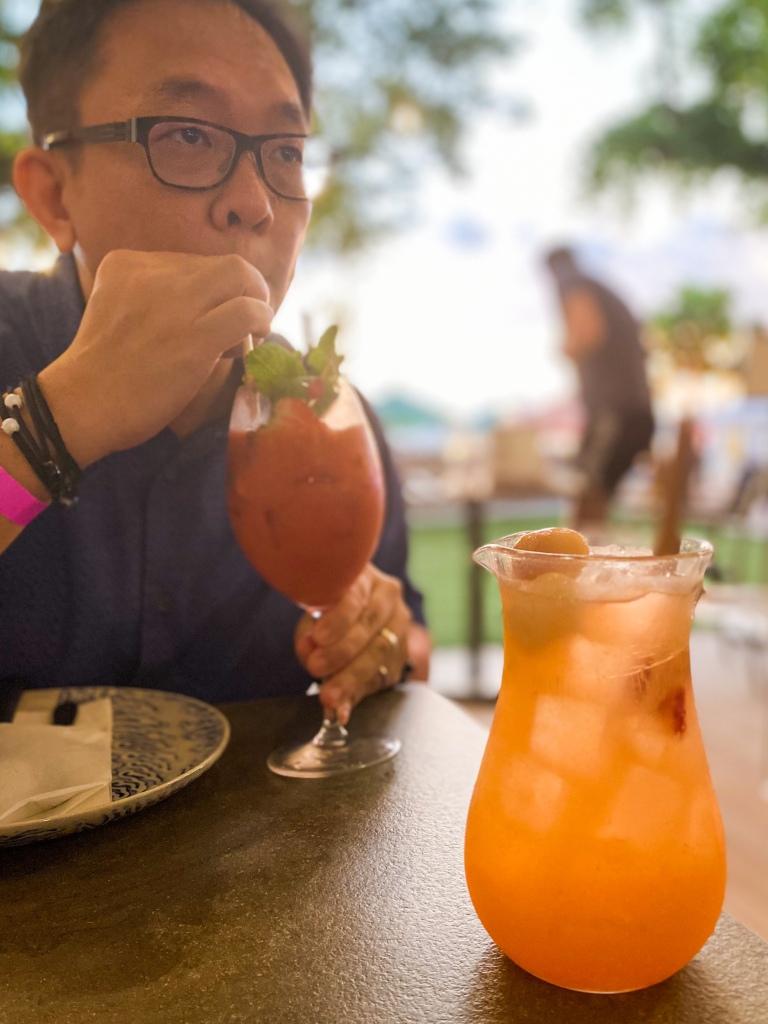 Cocktails at a restaurant